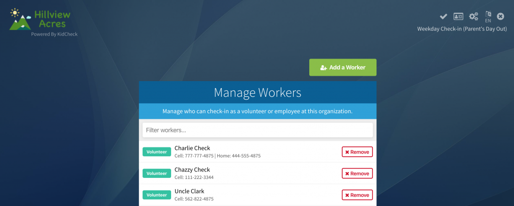 Add workers (or view existing ones) from the Admin Console on a computer.
