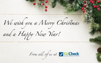 KidCheck Secure Children's Check-In Wishes You A Merry Christmas and Happy New Year